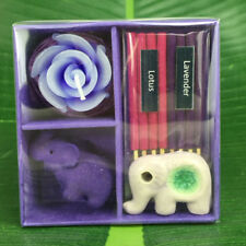 CANDLE ODOR AROMA LOTUS LAVENDER THAI ELEPHANT INCENSE JOSS STICK PRUPLE RELAX