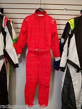 Sparco/Lico  Go Kart Racing Suit FIA  Red  2 Layer  Size XXX Large  [In the USA]