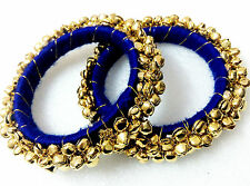 Glittering World Designer Bangle & Ghungroo Kada in Royal Blue 2.6 & 2.8 SIZES