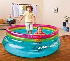 Kids Inflatable Bouncer Toy Bouncing Fun Indoor Outdoor Trampoline Soft Bottom