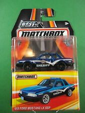 Matchbox 1/64 Diecast Best Of 1993 Ford Mustang Police Car Mint in Pack BX70