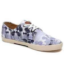 Toms Men's Shoes Sneakers Paseos Blue Palm Trees Size 11