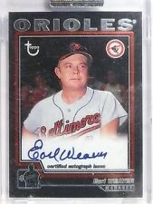 2004 Topps Retired Signatures Earl Weaver Autograph auto #TAEW *60632