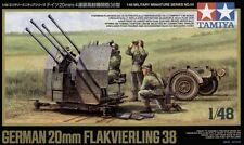 Tamiya 32554 1/48 German 20mm FLAKVIERLING 38 w/4 Figures from Japan Rare