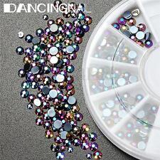 300X 3D Colorato Glitter Cristallo Brillantini Nail Art Unghie Decorazione Ruota