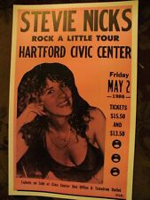 VINTAGE 80s STEVIE NICKS CONCERT TOUR POSTER Fleetwood Mac Hartford CT May 2 '86