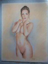 Nude Woman. Pin Up. Original Drawing.