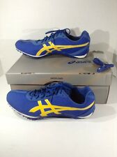 ASICS Mens Fast Lap MD Blue Track Running Spikes Cleats Shoes Size 10 ZD-519