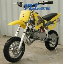 KIDS 49CC 2-CYCLE GAS FREE SHIPPING  MOTOR MINI BIKE POCKET BIKE YELLOW H DB49A