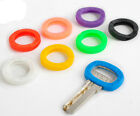 8pcs Hollow Multi Color Rubber Soft Key Locks Keys Cap Covers Topper Keyring