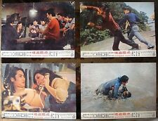 5 Chinese HK Lobby card DESPERATE CRISIS Movie Poster 26X36CM Kung Fu Film 70s