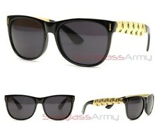 "Retro GLOSS BLACK ""Zoot Gold Sunglasses"" super future francis flat top cannabis"