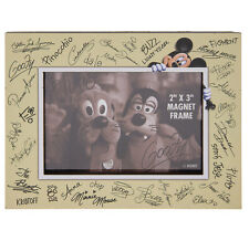 Disney Parks Mickey Mouse and Pals Autograph Signature Magnetic Photo Frame NEW