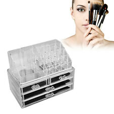 Clear Acrylic MakUp Drawers Holder Case Box Jewelry Storage brushes nail Polish
