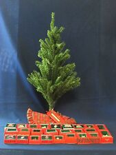 Hallmark Miniature Christmas Tree Set Tree Stand Tree Skirt 25 Ornaments Hooks