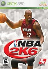 XBOX 360 NBA 2K6 Video Game Multiplayer Online Basketball Tournament Action 2006