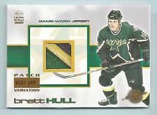 BRETT HULL 2001 CROWN ROYALE 4 COLOR PATCH /144