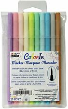 Marvy Uchida Color In Markers Brush Tip 4400B-10C - PASTELS