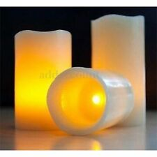 3Pcs LED Tea Light Flameless Battery Candle Lamp Wedding decor remote control
