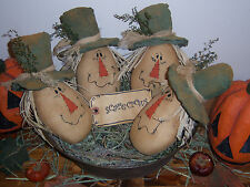 PATTERN~ EXTREME PRIMITIVE HARVEST/HALLOWEEN SCARECROW BOWL FILLERS DOLL ORNIES