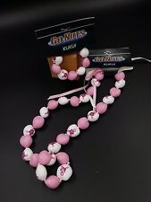 Breast Cancer Awareness Kukui Nut Lei 18'' 30-Nut Necklace & 9-Nut Bracelet