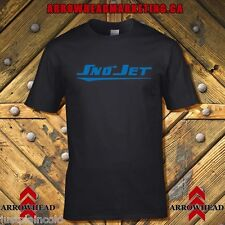 Sno-Jet vintage snowmobile style t-shirt with eaarly 70's style image