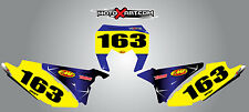 Sherco SE 250 300 2012 - 2016 BARBED style number plate stickers  / decals