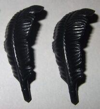 06701, 2x Hut-, Helm- Feder, Federbusch, schwarz