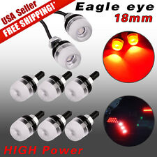 8PCS  High Power 5730 3SMD 9W LED 18MM Red Eagle Eye Fog Daytime Running DRL US