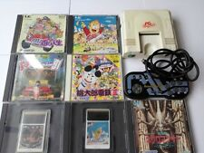 NEC PC Engine white Console(TurboGrafx-16),Avenue pad6,with 7 games-H4-