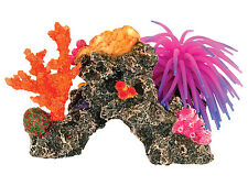 Coral Reef & Anemone Aquarium Ornament Colourful Fish Tank Cave Decoration