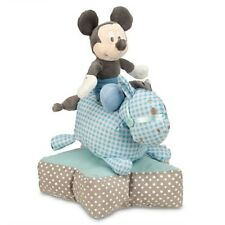 Disney Store Mickey Mouse Horse Plush Stacking Baby Toy Stuffed Blue 0+ Boys NEW