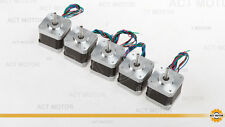 HOT !  free SHIP 5PC 12V Nema17 Stepper Motor 45oz,0.4A,34mm for 3D printer CE