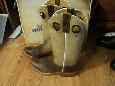 MENS VINT ANDERSON BEAN ROPER  HORSE POWER  COWBOY LEATHER  BOOTS 11 1/2 EE