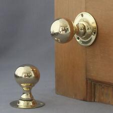 Edwardian Brass Ball Door Knobs