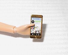 ACCESSORY ~ BARBIE DOLL POOL CHIC PARK PRETTY MINI GOLD CELL PHONE FOR DIORAMA