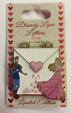 Disney Pin Sleeping Beauty Love Letter Aurora Prince Phillip LE HTF Pin New