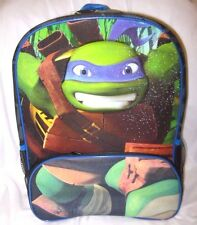 """Teenager Mutant Ninja Turtles Dontello 16"""" Backpack with front pocket-New"""
