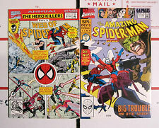 SPIDER-MAN ANNUAL LOT 2 BOOKS THE AMAZING SPIDER-MAN ANNUAL 24 & WEB OF 8 VF