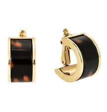 MICHAEL KORS MK4522710 Huggie Gold Tone Tortoise Acetate Clip Earrings