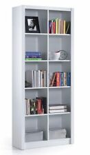 Ciara 5 Tier Bookcase Room Divider Display 10 Cube Shelf Unit White Gloss