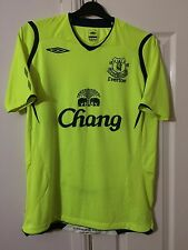 EVERTON Umbro Football Shirt Men's Medium Away Fluorescent 2008 09 Soccer Top M