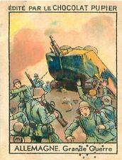 Grande Guerre Tank Char Gun  War WWI 14 18 Allemagne Germany IMAGE CARD 20s