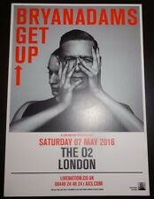 Bryan Adams Get Up O2 London Concert Promo card / flyer 2016