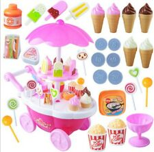 Pretend Snacks Sweets Food Ice Cream Cart Children Girls Role Play Game Toys SG