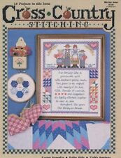 Cross Country Stitching Mar Apr 1989 Easter Sampler, Baby Bibs, Table Settings