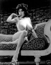 1963 Jackie Parker Posing on Day Bed Very Big Breasts 8 x 10 Photograph