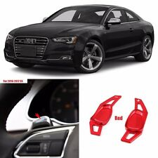 Red Alloy Steering Wheel DSG Paddle Extension Shifters for Audi S5 2016-2017