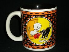Casper Friendly Ghost Halloween Coffee Mug Cup 1986 Black Cat Trick or Treat