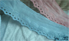 """14Yds Broderie Anglaise cotton eyelet lace trim 2.2"""" YH1060 laceking2013"""